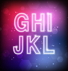 Abstract font g-l vector