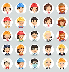 Professions icons set1 2 vector