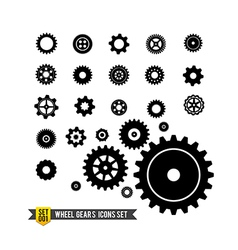 Set of circle wheel gear icon vector