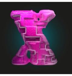 Pink plastic figure x vector