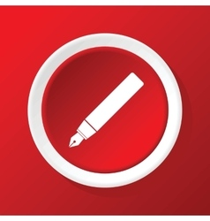 Ink pen icon on red vector