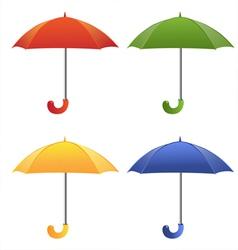 Color umbrella vector