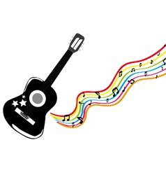 Black guitar vector