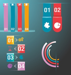 Info graphic set colorful vector