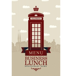 Business lunch london vector