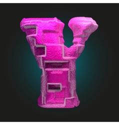 Pink plastic figure y vector