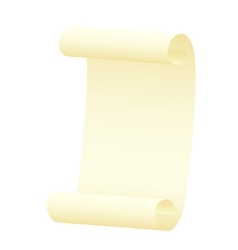 Scroll on a white background vector