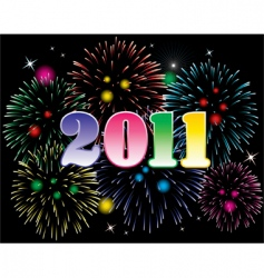 New year 2011 and fireworks vector