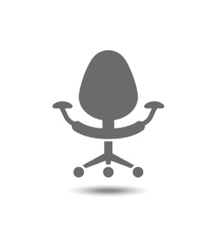 Office chair icon isolated on white background vector