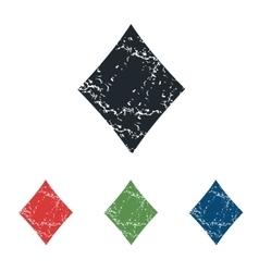 Diamonds grunge icon set vector