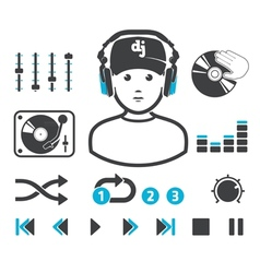 Djs set vector