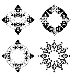 Ottoman motifs design series with thirty six vector