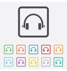 Headphones sign icon earphones button vector