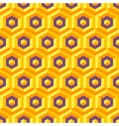 Seamless abstract 3d texture with hexagonal vector