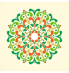 A vintage radial ornament vector