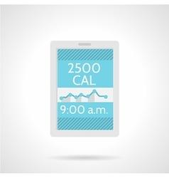 Calorie counter app flat color icon vector