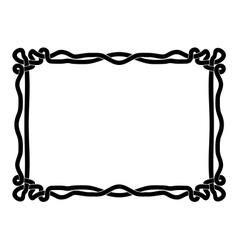 Simple black rope ornamental decorative frame vector