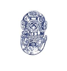 Diver helmet vector