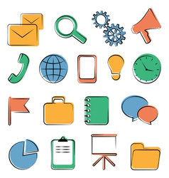 Flat icons isolated vector