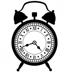 Retro alarm clock vector