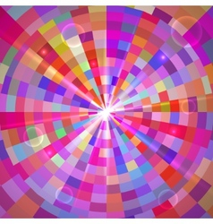Abstract colorful tunnel vector