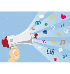 Social media communication vector