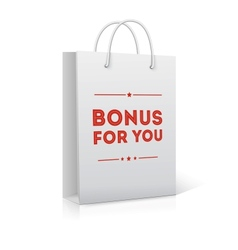 Bonus for you shopping bag vector