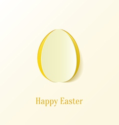 Creative paper cut easter egg vector