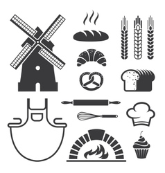 Bakery icons and symbols vector