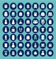 Set with collection of famaly clothing vector