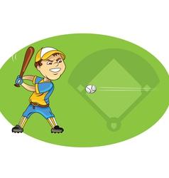 Baseball player swinging vector