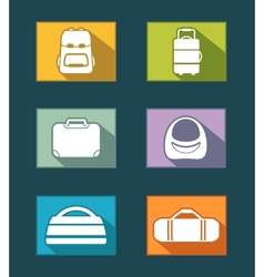 Colorful icons set with bags vector