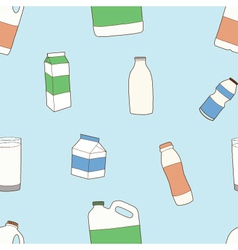 Seamless of dairy products vector