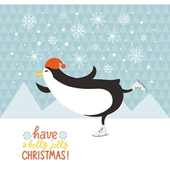 Penguin skate vector