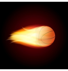 Basketball ball on fire vector