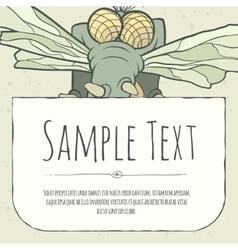 Cute doodle cartoon monster greeteng or invitation vector