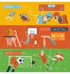 Team sport horizontal banners set vector