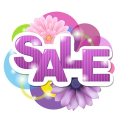 Floral spring sale sign vector