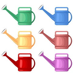 Watering can set vector
