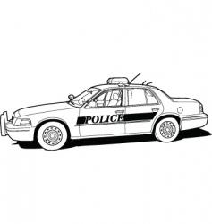 Police cruiser vector