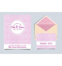 Wedding invitation card art deco vector