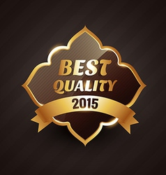 2015 best quality golden label design vector