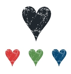 Hearts grunge icon set vector