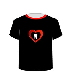 T shirt template- sweet tooth vector