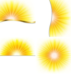 Summer beams set vector