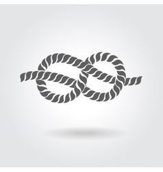 Rope eight knot vector