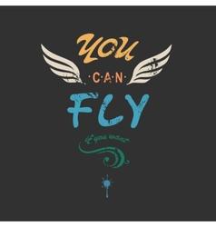You can flyncreative tee shirt apparel print vector
