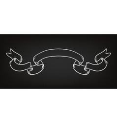 Hand drawn ribbon on the blackboard vector