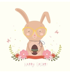 Easter day background or card vector