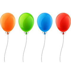 Set of realistic celebration balloons vector